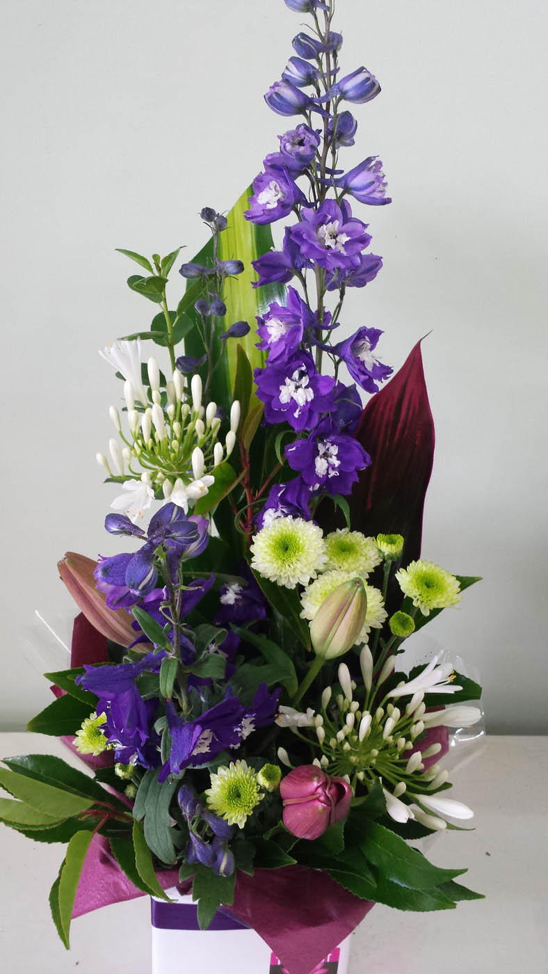 Box arrangement flower arrangements adelaide hills for A arrangement florist flowers