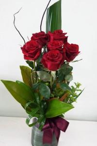 Valentines Glass Rose Dish