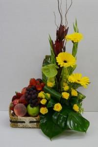 fruit and flower hamper