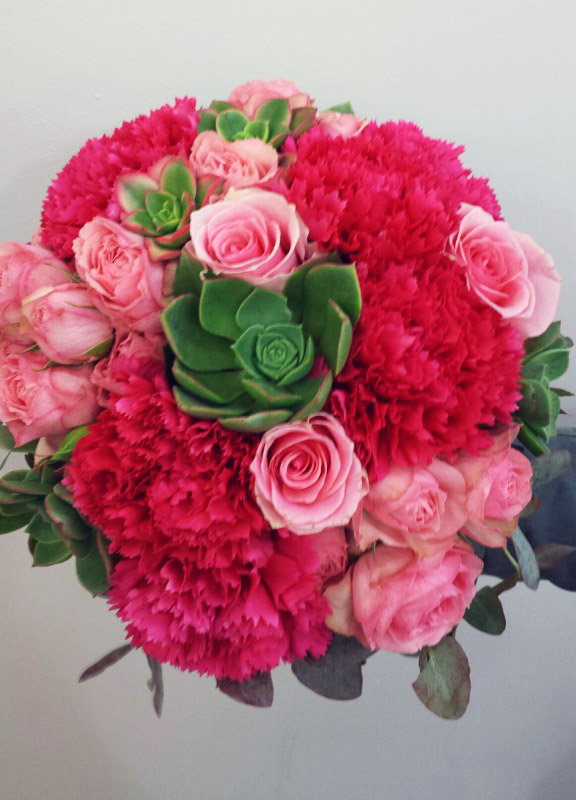 roses, succulents, carnations