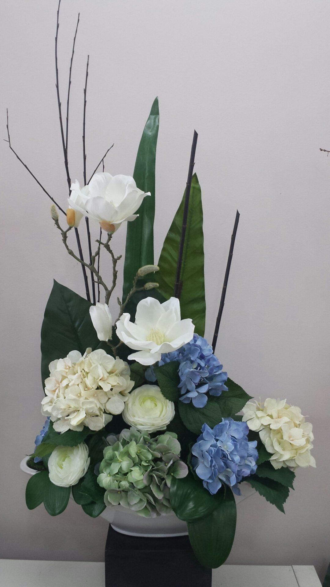 White Magnolia and Hydrangea