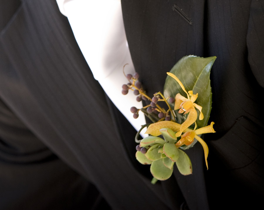 succulent-and-orchid-buttonhole
