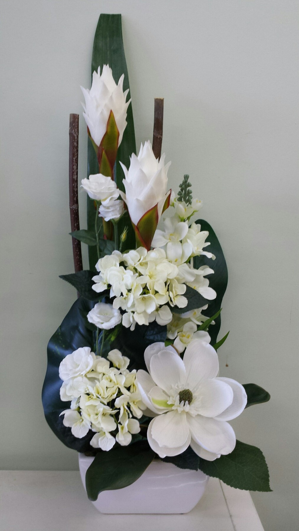 Artificial flowers online adelaide hills delivery all white and green artificial design mightylinksfo