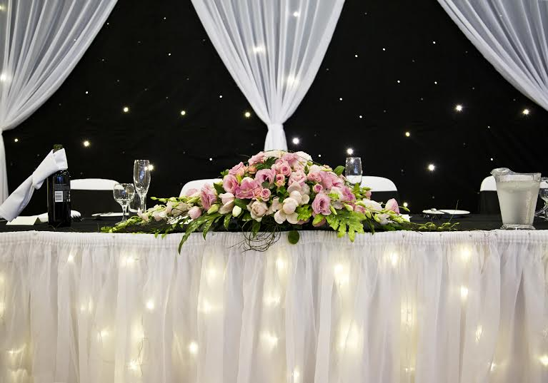 bridal table centre piece