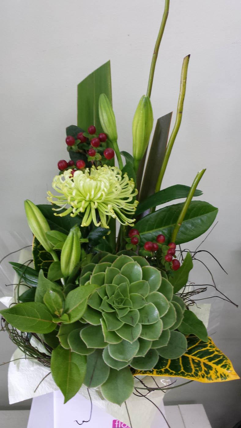 modern box - flower arrangements