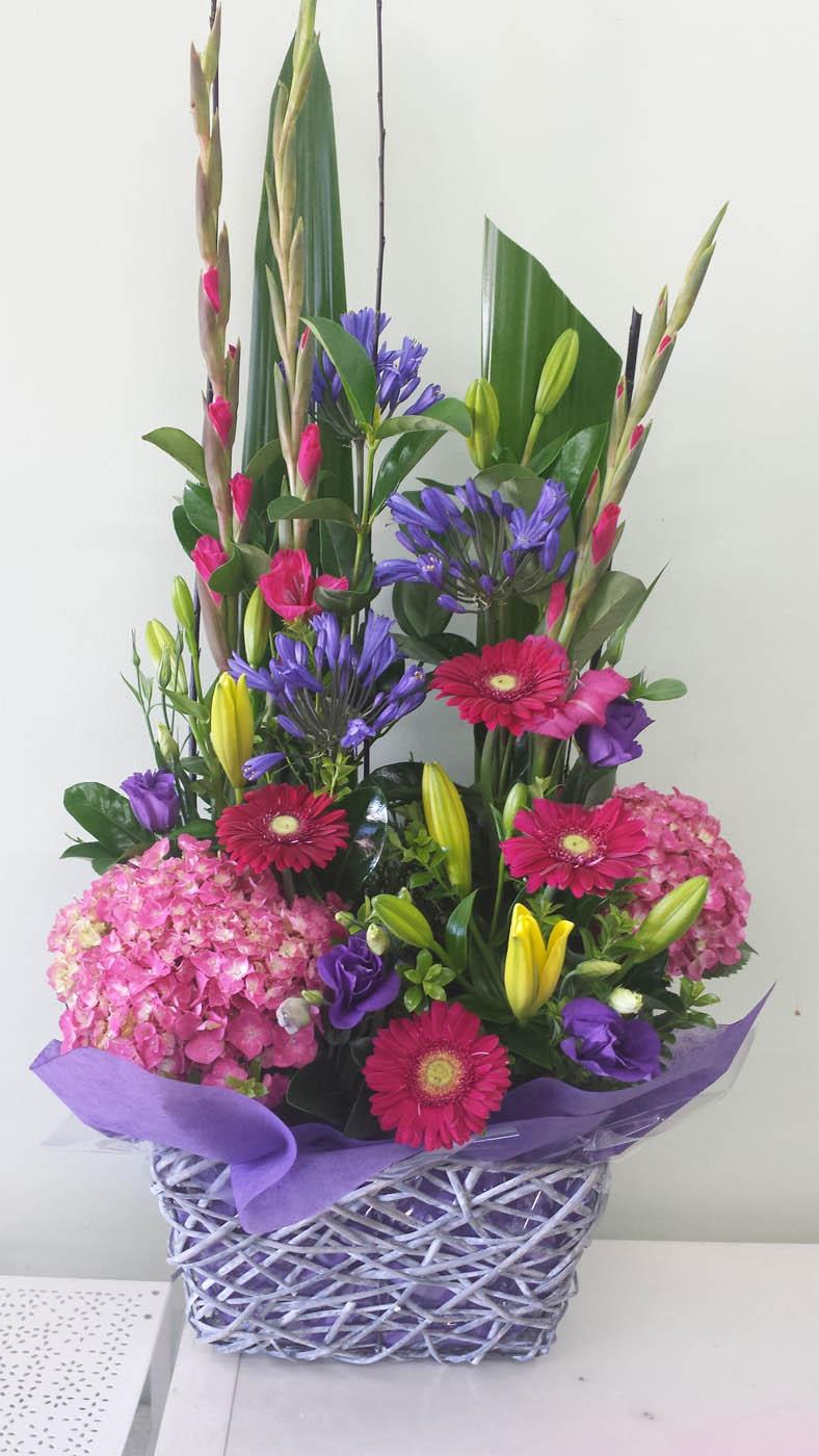 Premium Flower Basket Arrangements Adelaide Amp Hills