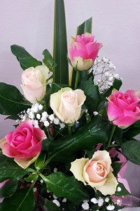 Valentines Pastel rose box