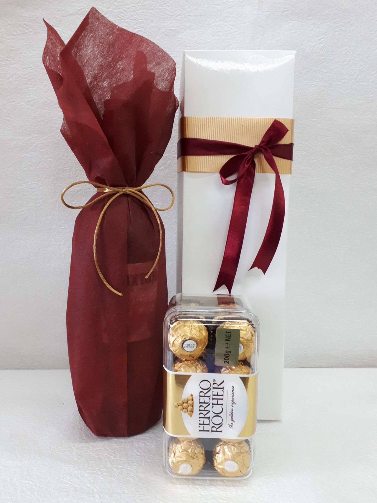 wine and chocolates gift box