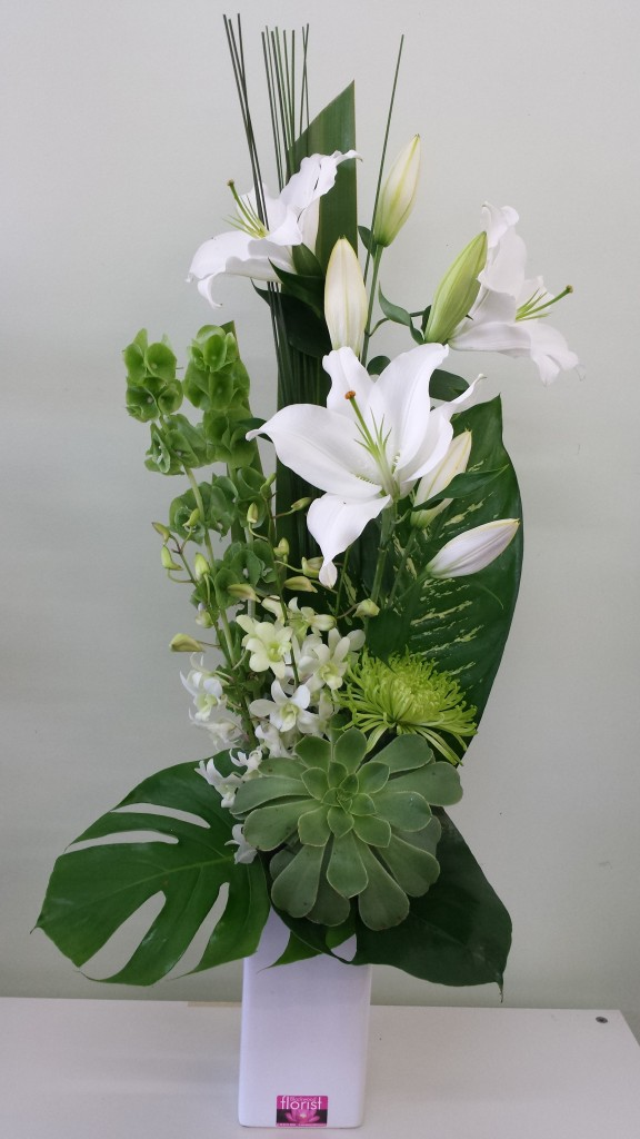 Fresh white and green flowers