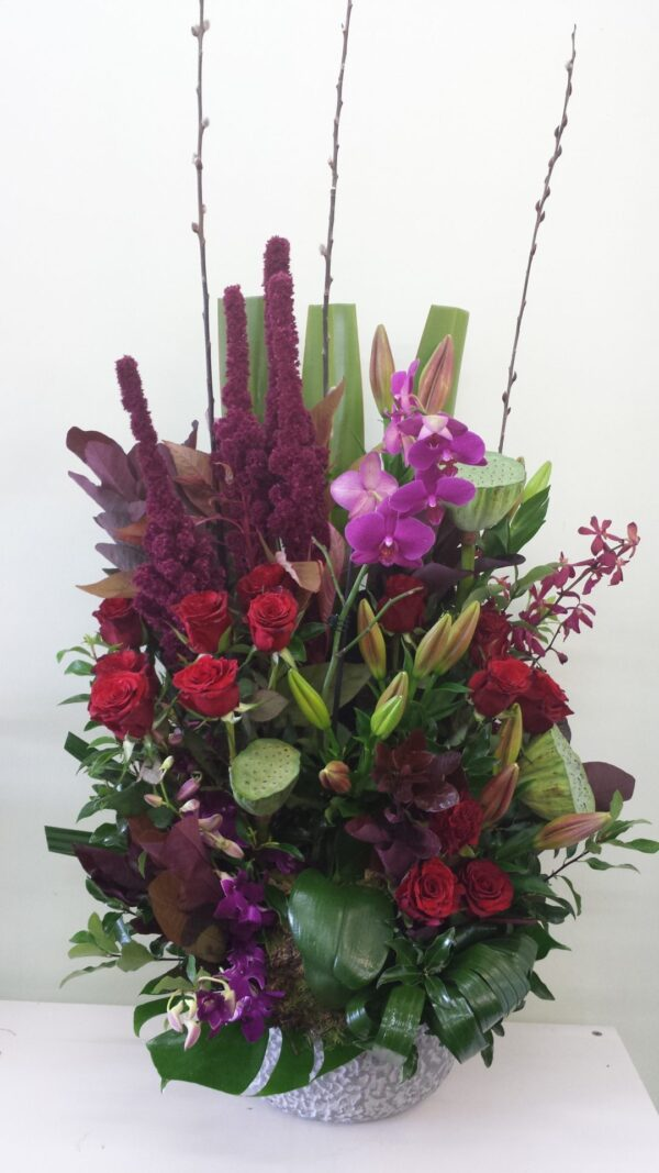 Corporate event design, can be in company colours or theme