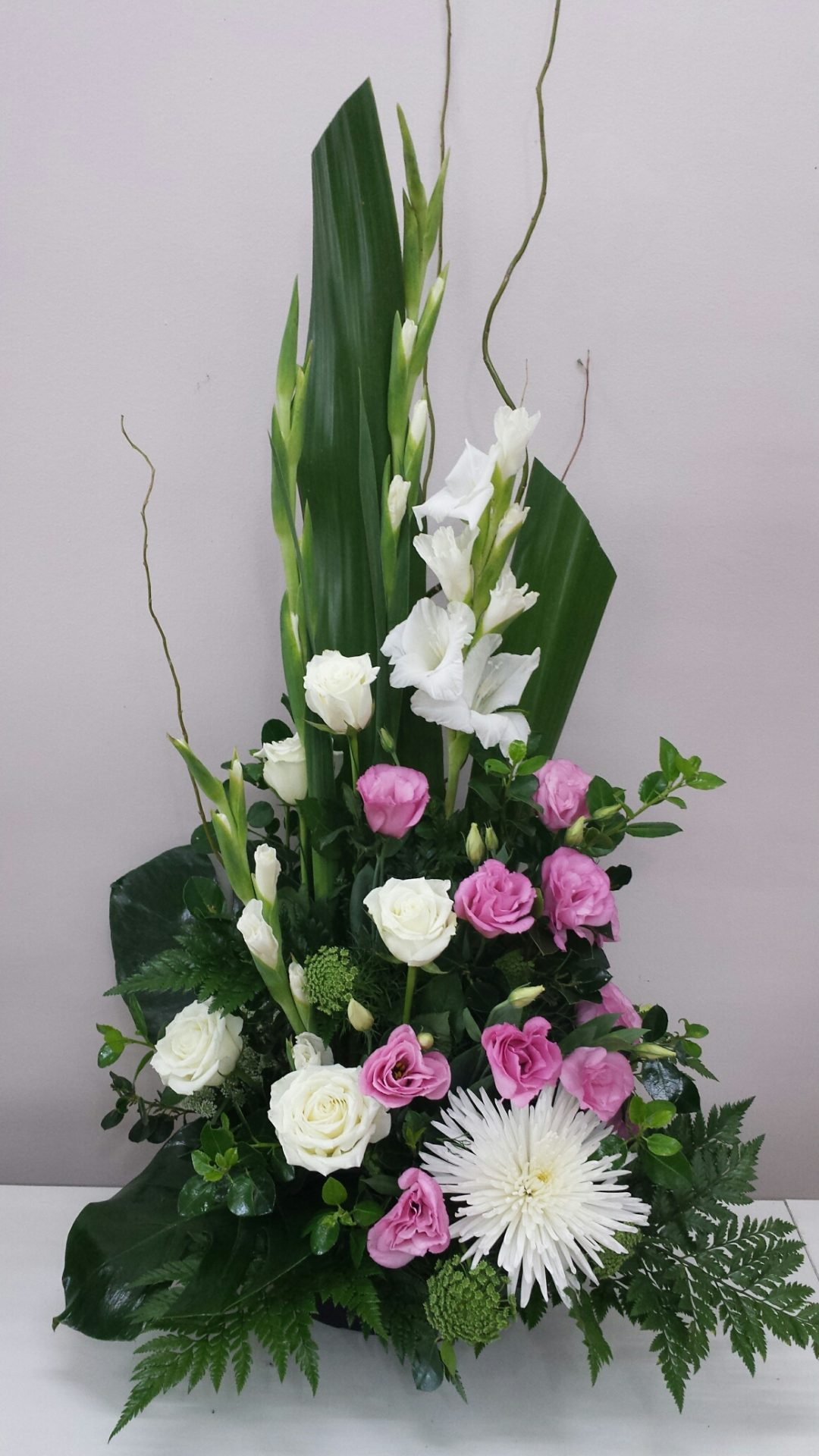 Tall White And Pink Toned Arrangement
