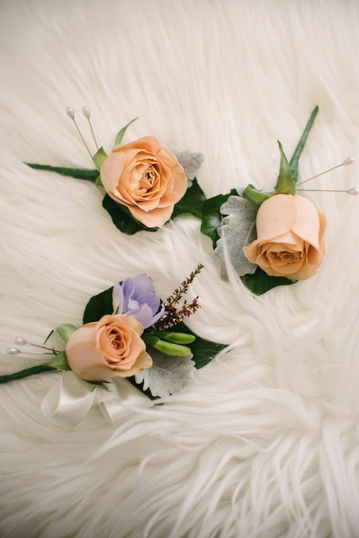 Honeymoon rose and mauve freesia