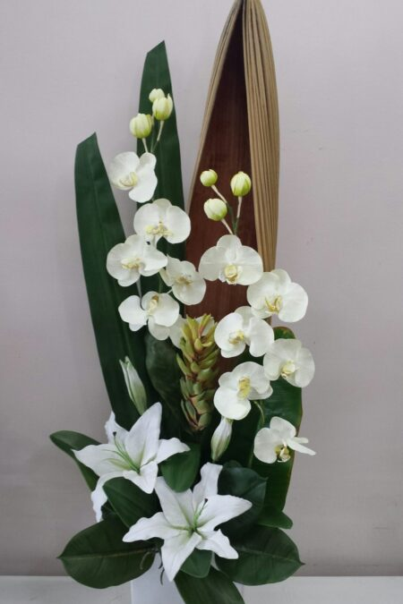 Orchid, Ginger flower, oriental lily design