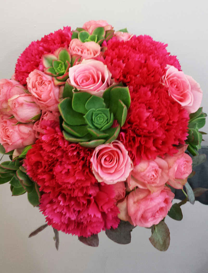 Rose,-carnations-and-succulent-bridal-Bouquet