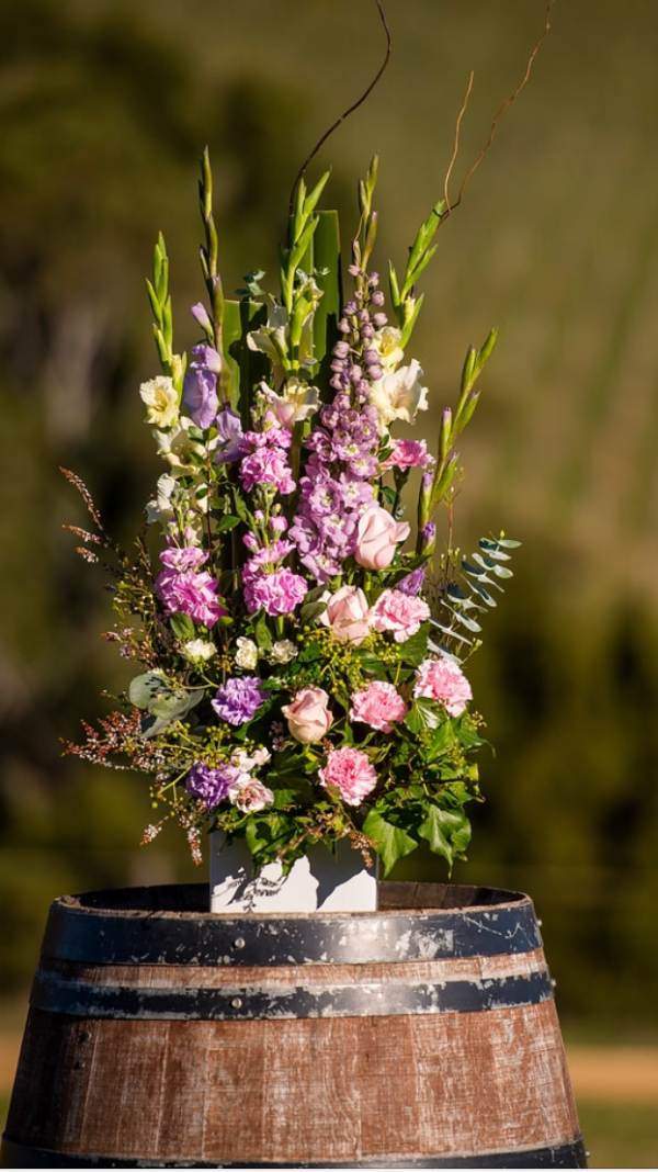 Tall ceramic pot design for wine barrell