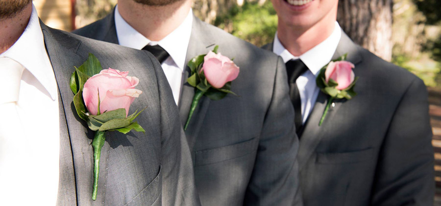 Pink rose-buttonholes