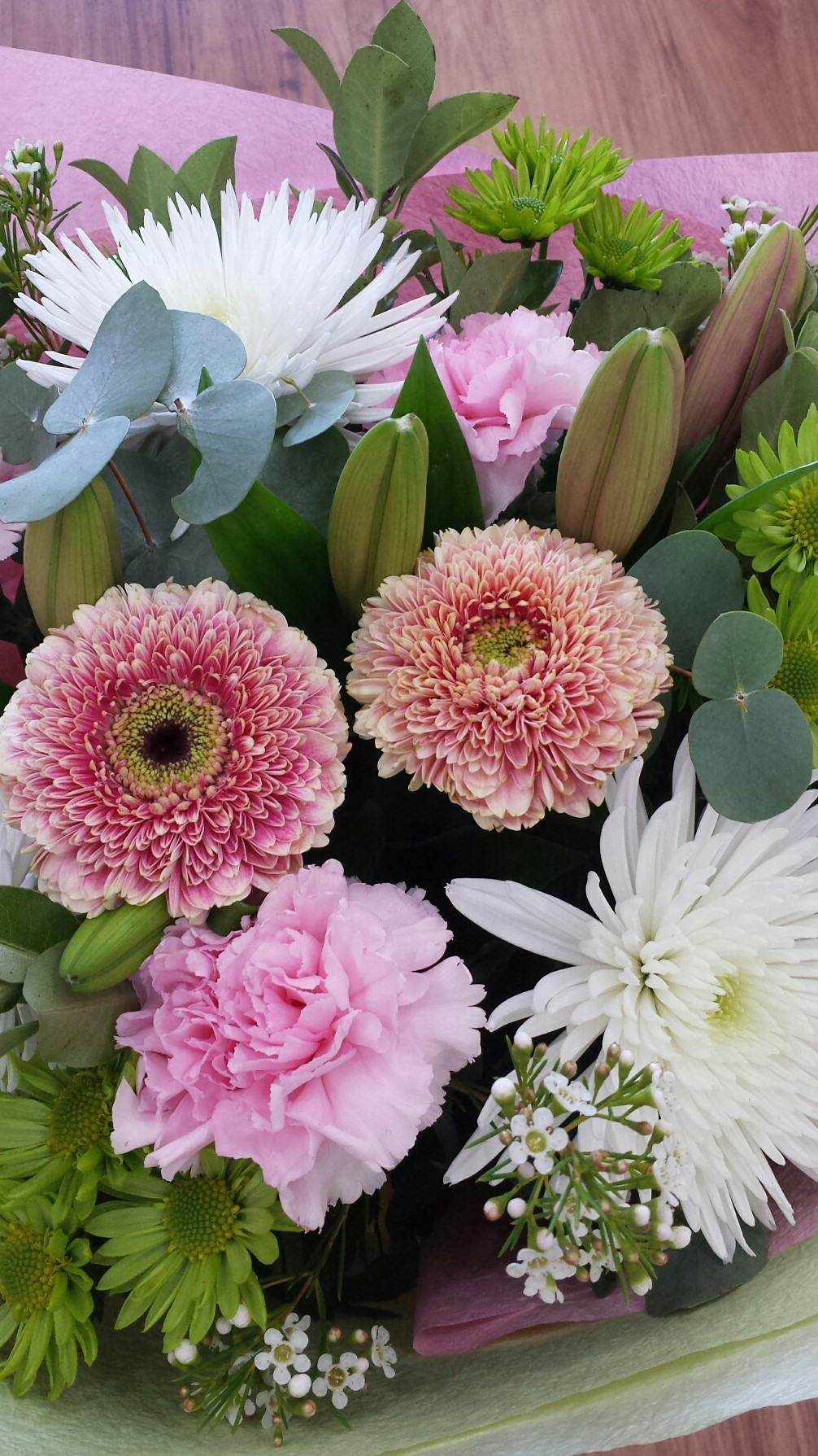 Wedding Flowers Online Adelaide : Pink and white delight adelaide hills flower delivery