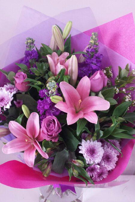 Pink purple passion bouquet