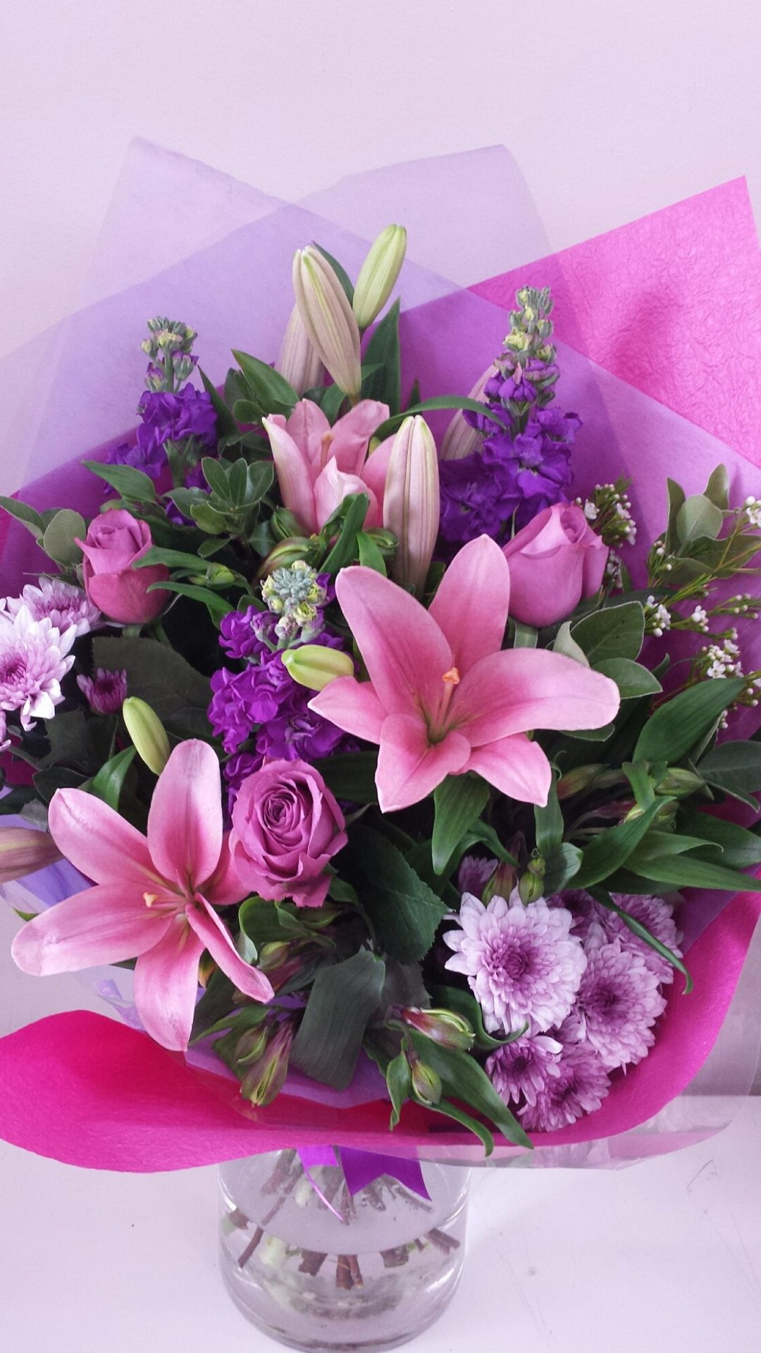 Pink purple passion bouquet