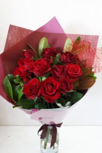 Red rose heart bouquet