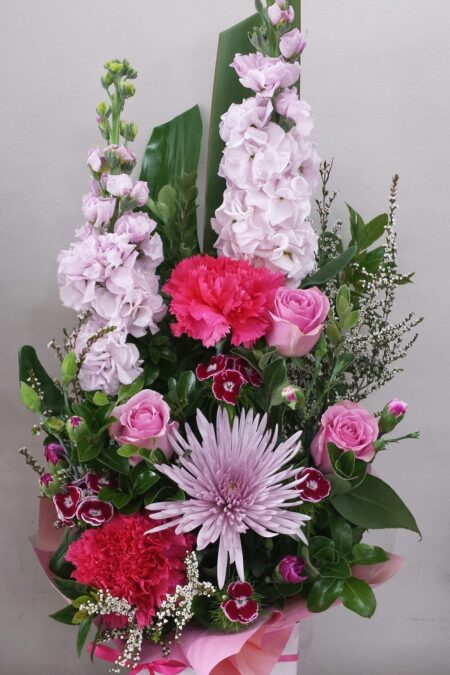 Winter pink arrangement