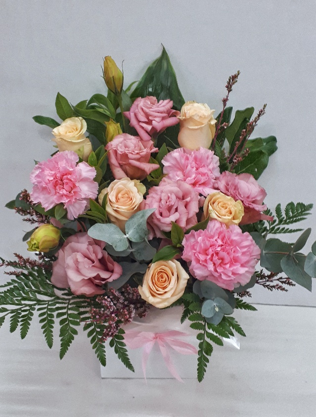 Pastel box arrangement